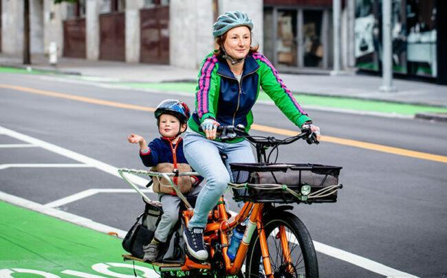 Children Grow Up In Happy Biking Family