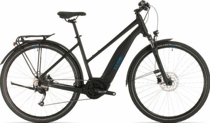 Cube Touring Hybrid One 400 Allroad Trapeze Electric Bike 2020 as model #4 Women Electric Bikes Sale