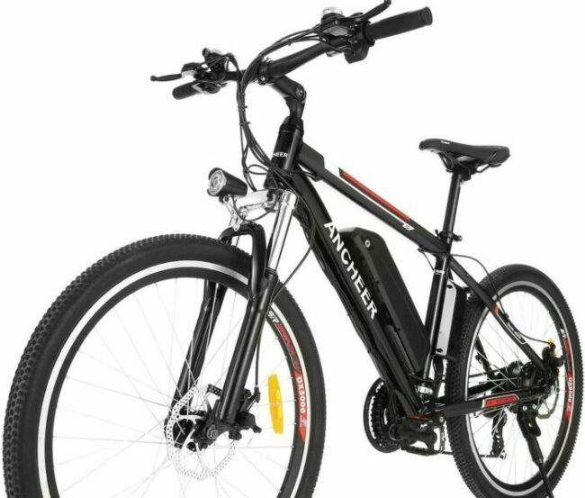 ANCHEER 2019 Pro Electric Mountain Bike as model #6 electric bikes for heavy people