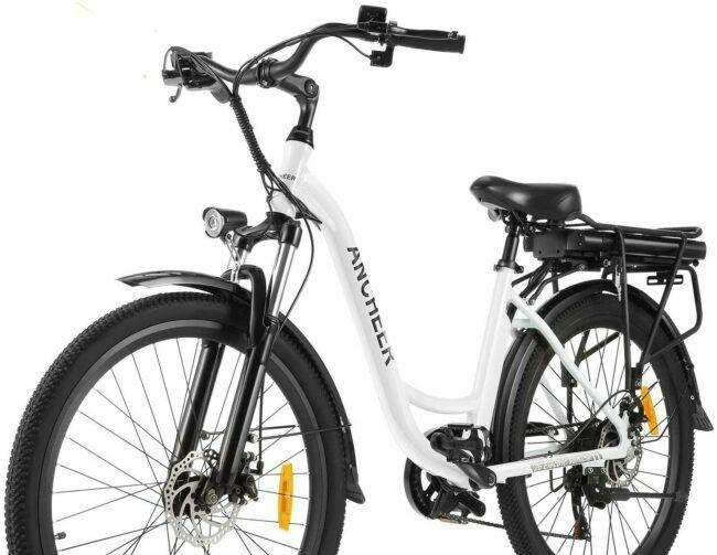 ANCHEER 26 inches Electric City Bike as model #7 electric bikes for heavy people