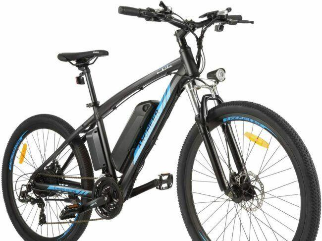 ANCHEER Electric Mountain Bike as model #5 electric bikes for heavy people
