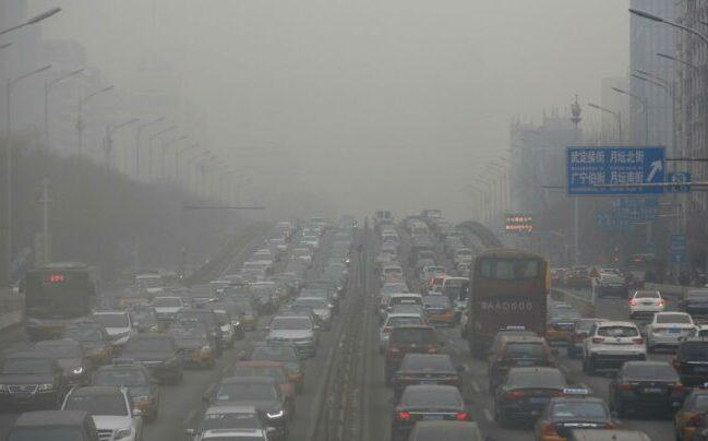 Air pollution on the highway is seriously affecting human health and nature survive.