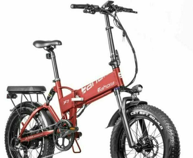 Eahora X7 is selected as model #4 electric bikes for heavy people.