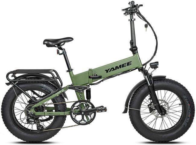 I-Pass Yamee Adults Electric Folding Bike as model #8 electric bikes for heavy people