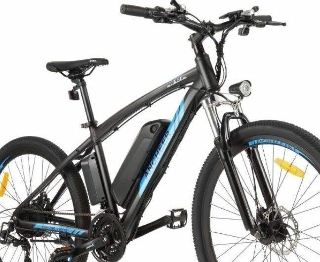 ANCHEER Adults Hummer Electric Mountain Bike as model #2 best buy electric bikes below 1000.