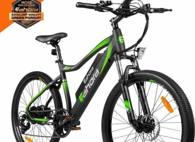 EAHORA XC100 Plus Mountain Electric Bike as model #5 best bike for cities.