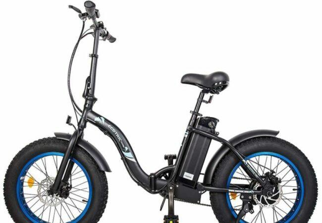 ECOTRIC Powerful 500W Folding Electric Bicycle as model #1 best buy electric bikes below 1000.