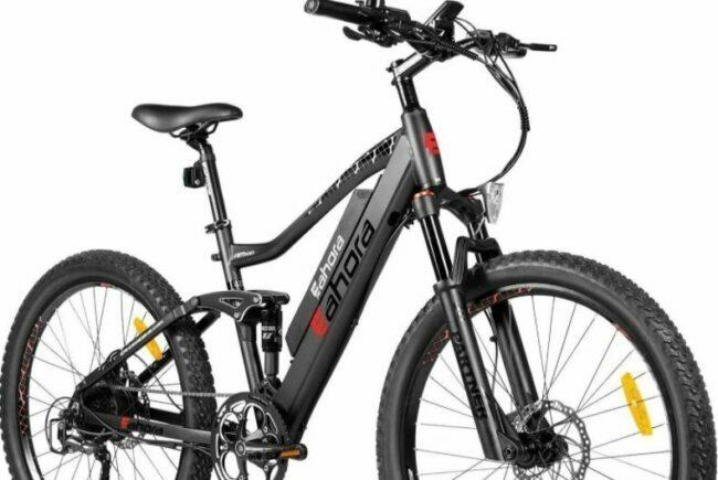 Eahora AM100 Electric Mountain Bike as model #1 electric bikes for work