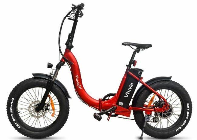 Folding Fat Tire Electric bike as model #5 best electric bike for women.