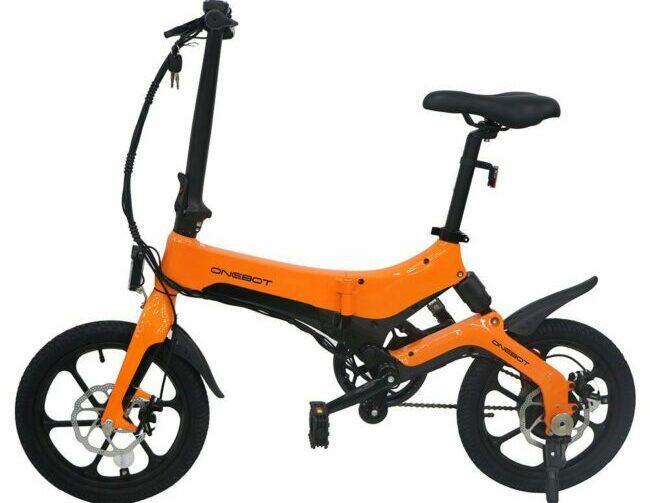 One Bot S6 Folding Electric Bike as model #8 best electric bike for women