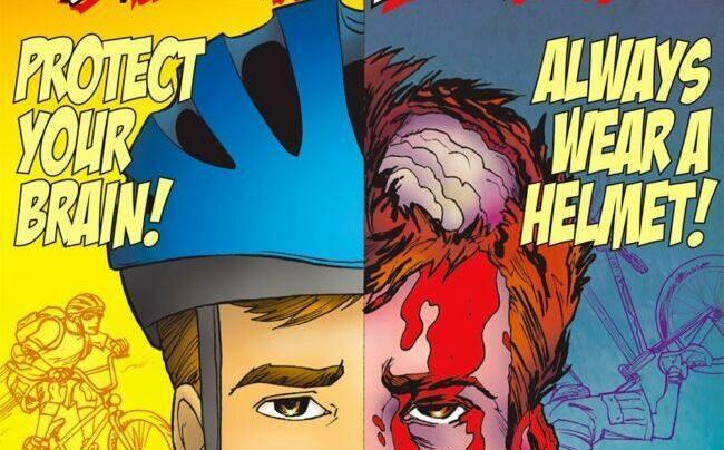 Protect your brain - always wear a helmet