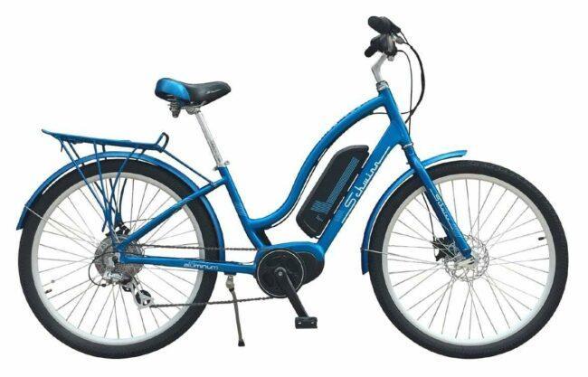 SCHWINN EC1 electric bike as model #3 best electric bike for women