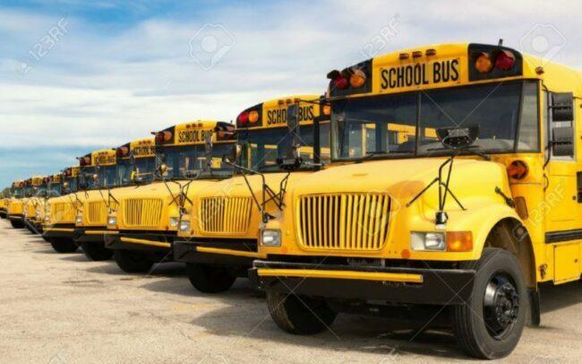 School buses parking need big space as feature image for electric bikes can solve transport issues