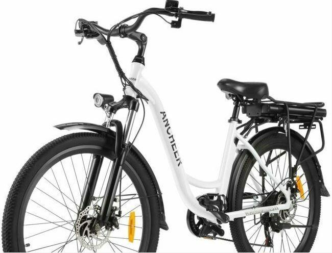 ANCHEER 26 inches Electric Bike, City E-bike as model #3 electric bikes for beginners