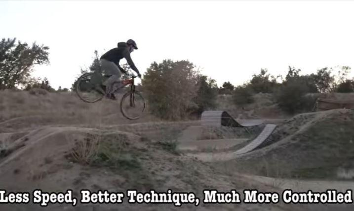 Jumping Technique #4 - Less Speed, Better Technique is much more controlled.