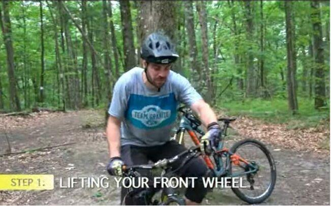 Manual Step 1 - Lift your front wheel.