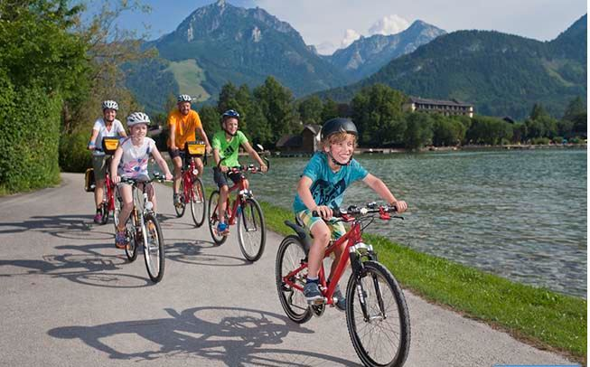 Taking your bikes on holiday as a featured image for ladies hybrid bikes UK.