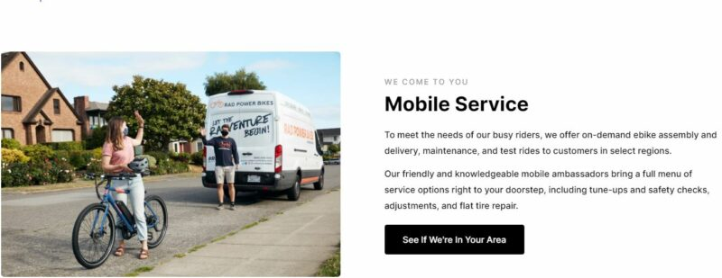 Rad Power bikes - Mobile Service.