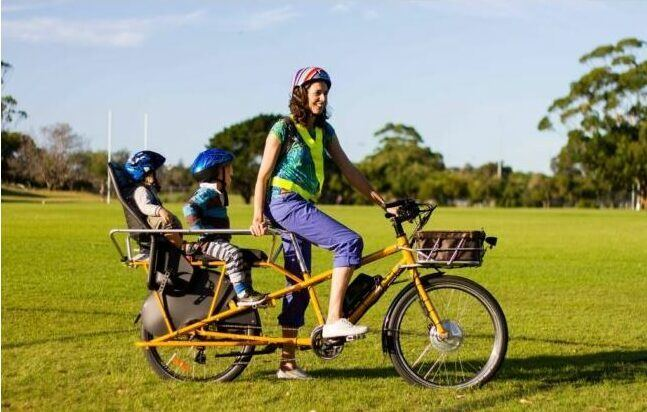 Ride A Cargo Bike with kids as the featured image for Go Cargo All Terrain E-Bike Post.