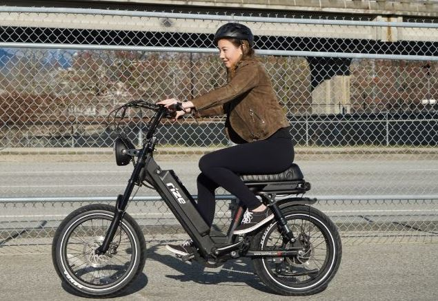 Riding RIZE Liberty as the featured image of RIZE Liberty is the best affordable moped electric bike post.