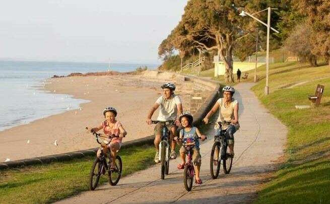 Cycling in Philip Island as the featured image for Surface 604 Rook - The best affordable step-thru e-commuter post.